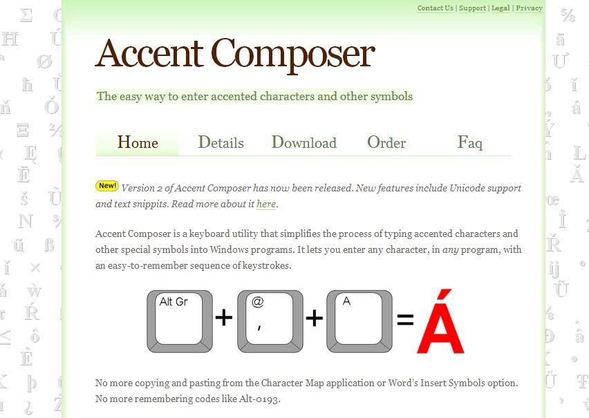 Accent Composer website
