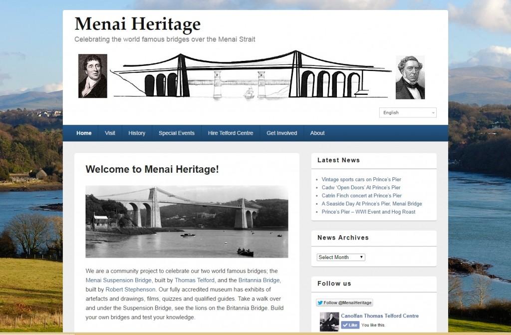 Menai Heritate website
